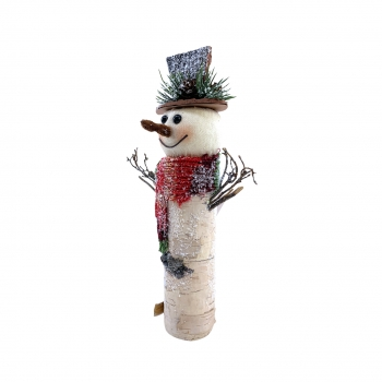 Χριστουγεννιάτικη Διακοσμητική  Φιγούρα Χιονάνθρωπος 13x6x25 εκ