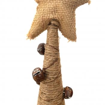 Χριστουγεννιάτικο Διακοσμητικό Δέντρο Κώνος Σκοινί 78 εκ