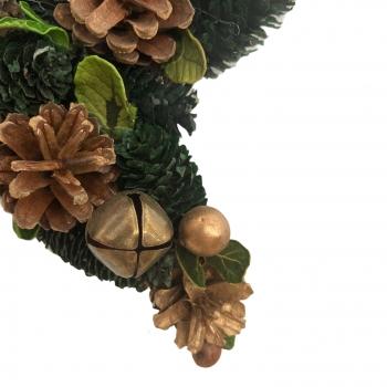 Χριστουγεννιάτικο Διακοσμητικό Αστέρι Κουκουνάρια 25x25x5.5 εκ