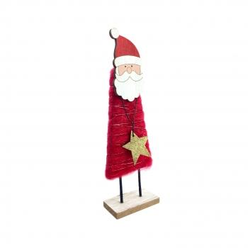Χριστουγεννιάτικο Διακοσμητικό  Άη Βασίλης Αστέρι Κόκκινο Μαλλί 8x4x26 εκ