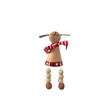 Χριστουγεννιάτικο Ξύλινο Διακοσμητικό Τάρανδος 8 εκ
