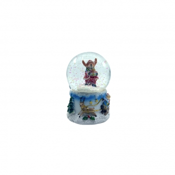 Χριστουγεννιάτικη Χιονόμπαλα Βάση Λευκή 4Σχδ