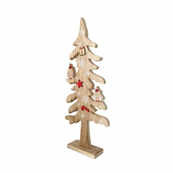 Χριστουγεννιάτικο Δέντρο Ξύλινο Κουκουβάγιες 41εκ.