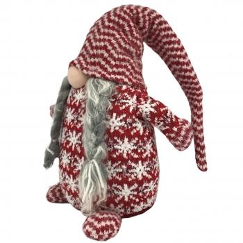 Χριστουγεννιάτικη Διακοσμητική Φιγούρα Άη Βασίλης Ριγέ Σκούφος 30εκ Σ16