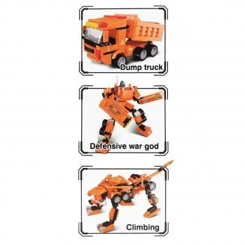 Παιχνίδι Τουβλάκια Orange3σε1 Φορτηγό Ρομπότ Ζωάκι