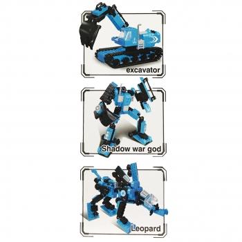 Παιχνίδι Τουβλάκια Blue 3σε1 Εκσκαφέας Ρομπότ Ζωάκι