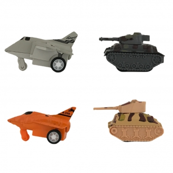 Σέτ Πλαστικά Πολεμικά Οχήματα  4 Τμχ Σ72