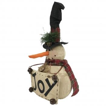 Χριστουγεννιάτικη Διακοσμητική Φιγούρα Χιονάνθρωπος 18x10x33 εκ