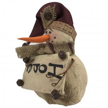 Χριστουγεννιάτικη Διακοσμητική Φιγούρα Χιονάνθρωπος Joy 13x10x30 εκ