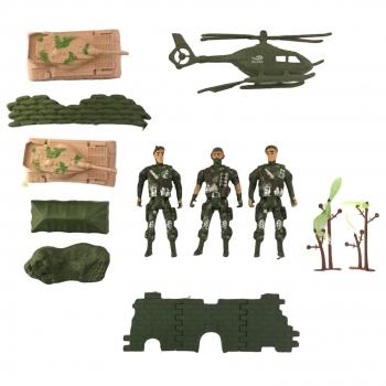 Σετ Μάχης Στρατιωτες Τανκ Ελικόπτερο