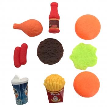 Πλαστικό Σετ Φαγητού Hamburger