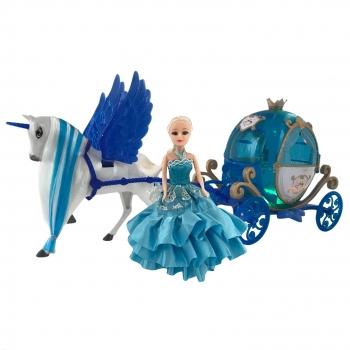 Κούκλα Πριγκίπισσα με Άμαξα & Άλογο Φτερωτό