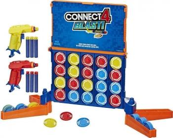 Hasbro Επιτραπέζιο Παιχνίδι Score 4 Nerf Connect 4 Blast