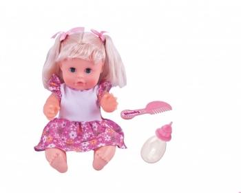 Bambolina Amore Κούκλα Με Μαλλιά Πιπί Ποπό 30εκ.