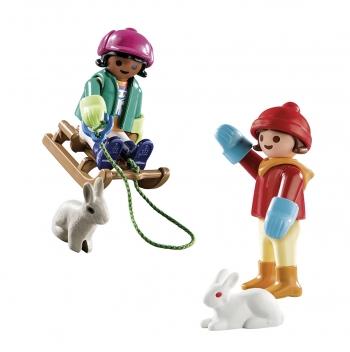 Playmobil Παιδάκια Με Έλκηθρο (70250)