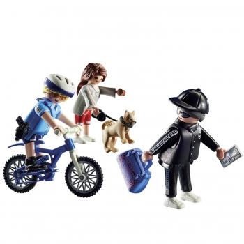 Playmobil Αστυνομικός Με Ποδήλατο Και Πορτοφολάς (70573)