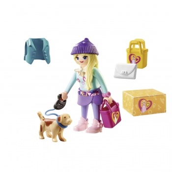 Playmobil Fashion Girl Με Σκυλάκι (70595)