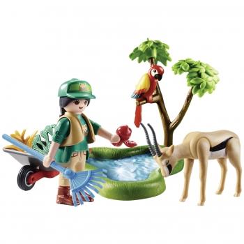 Playmobil Gift Set Φροντιστής Ζωολογικού Κήπου Με Ζωάκια (70295)