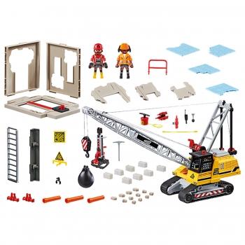 Playmobil Γερανός Κατεδάφισης Με Ερπύστριες Και Δομικά Στοιχεία (70442)
