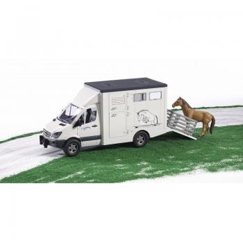 Φορτηγάκι Bruder Mercedes Sprinter Μεταφοράς Αλόγων (Br002533)