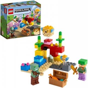 LEGO Minecraft The Coral Reef Ο Κοραλλιογενής Ύφαλος 21164