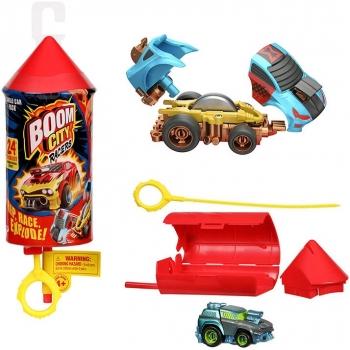 Boom City Racers S1 Single Pack (Fsdu 32pcs) (1όχημα, 1x Εκτοξευτής)