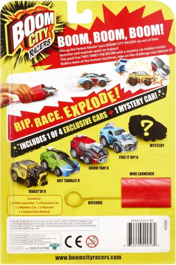 Boom City Racers S1 Double Pack (2x Οχήματα, 1x Εκτοξευτής)α.