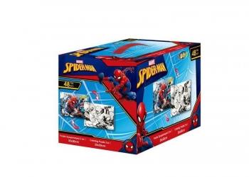 Puzzle Χρωματισμού Κύβος  2 Όψεων 48tem 50χ35εκ Spiderman