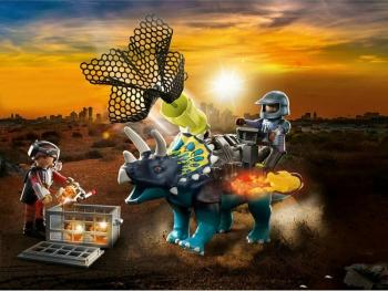 Playmobil Τρικεράτωψ με πανοπλία-κανόνι και μαχητές (70627)
