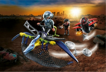 Playmobil Πτεροδάκτυλος και μαχητές με drone (70628)