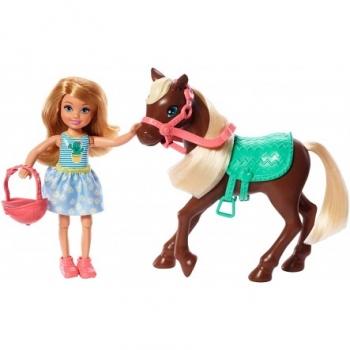 Barbie Club Chelsea Τσέλσι Κούκλα Και Πόνυ