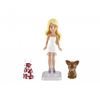 Mattel Mini Κούκλες Barbie Με Ζωάκι DTW45