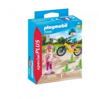 Playmobil Παιδάκια με πατίνια και ποδήλατο BMX