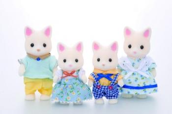 Sylvanian Families Silk Cat Οικογένεια