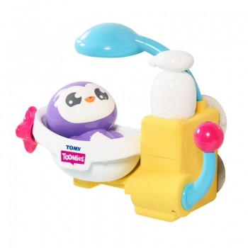 Toomies Peryns Shower And Scrub Παιχνίδι Μπάνιου Πιγκουΐνος Στο Μπάνιο